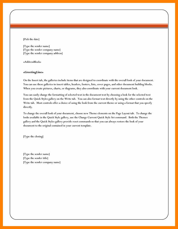 10 Letterhead Templates Word 2010 Letter Flat