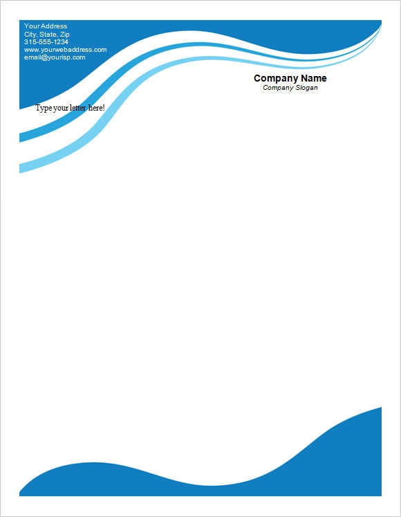 11 Sample Company Letterhead Templates Sample Templates