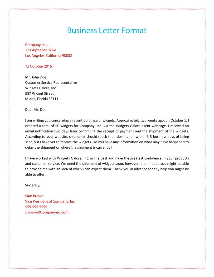 12 Correct Way To Write A Business Letter Radaircars