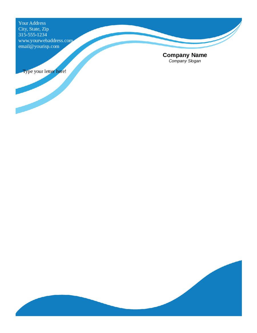 2021 Business Letterhead Templates Fillable Printable