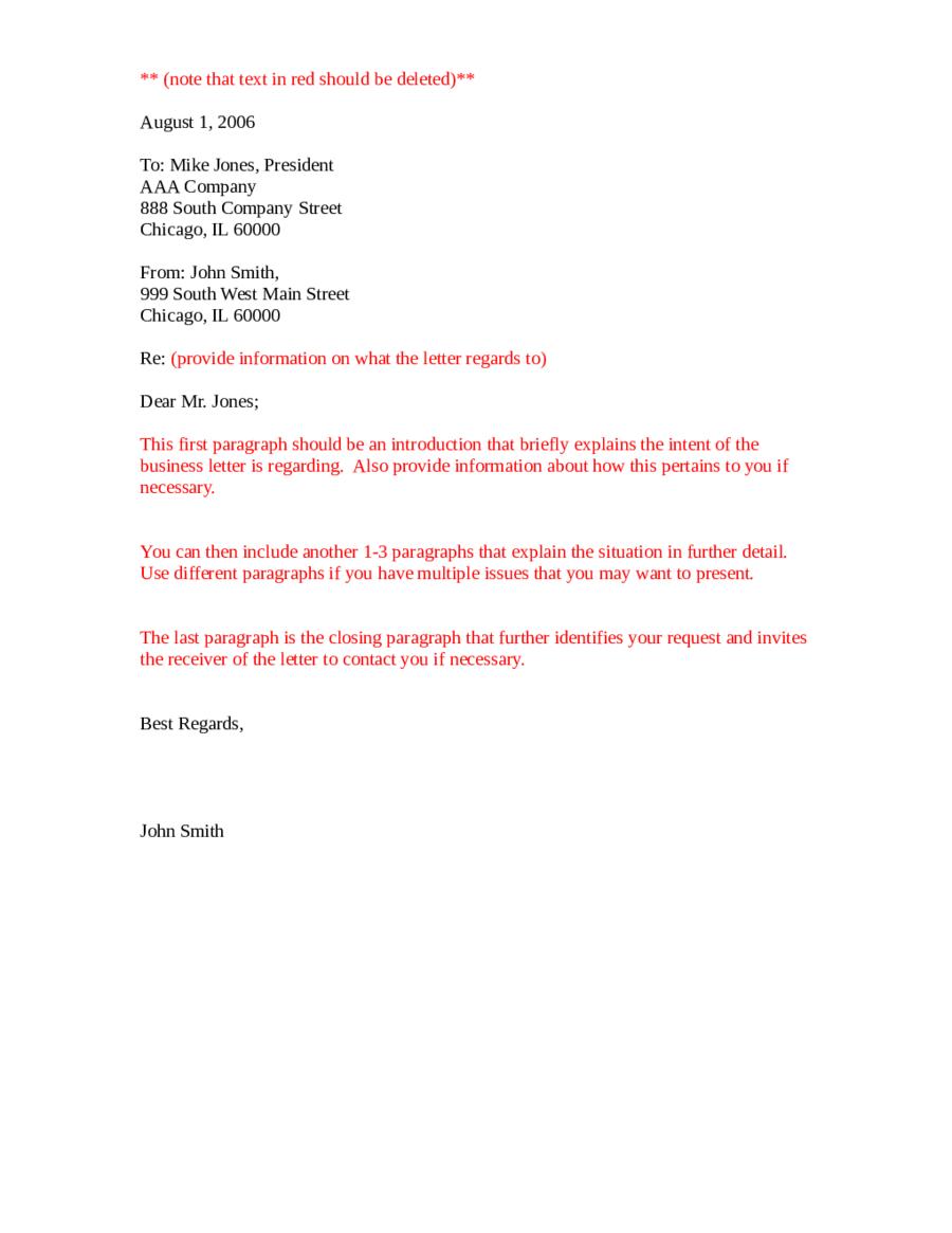 2021 Official Letter Format Fillable Printable PDF