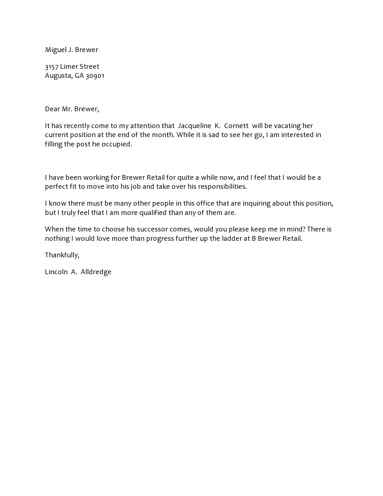 30 Editable Letter Of Interest For A Job Templates