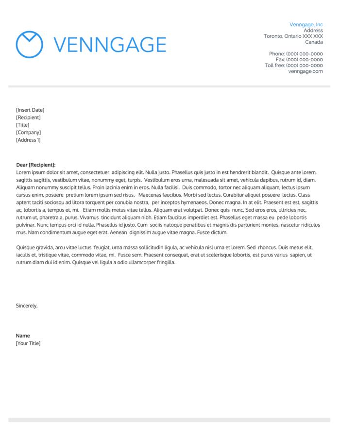 30 Free Business Letterhead Template Printable Letterhead