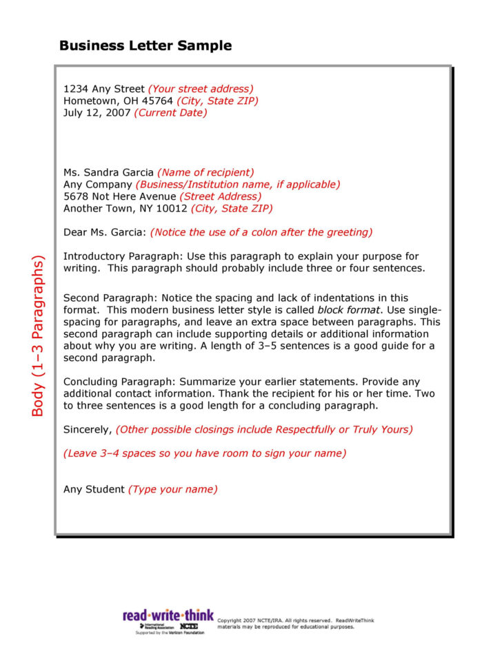 Write Business Letter