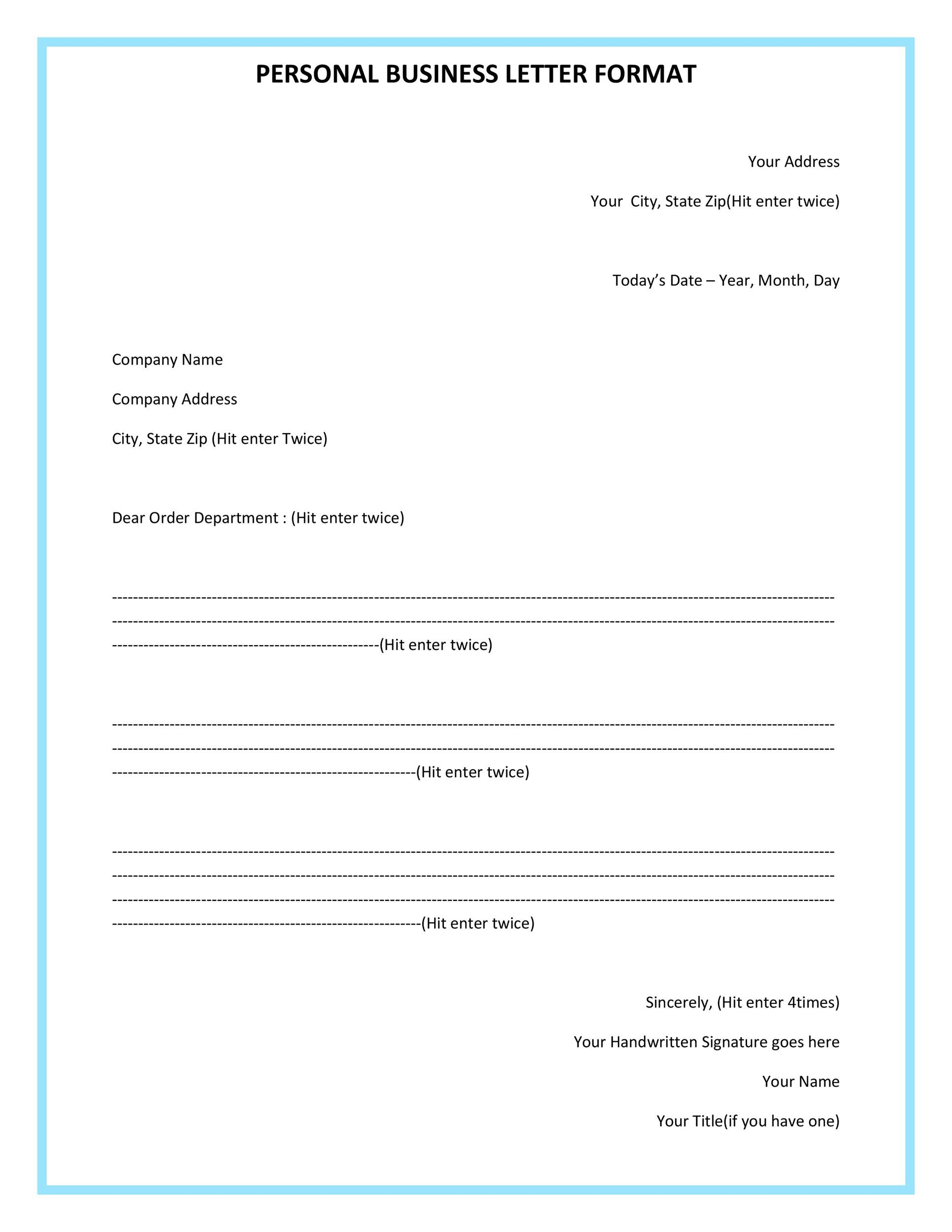 35 Formal Business Letter Format Templates Examples