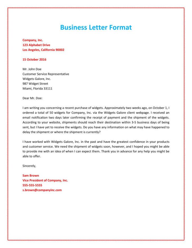 Formal Business Letter Formatting