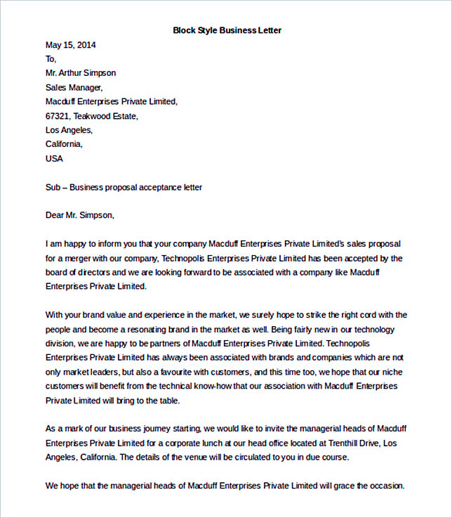 38 Business Letter Template Options Know Which Format To Use