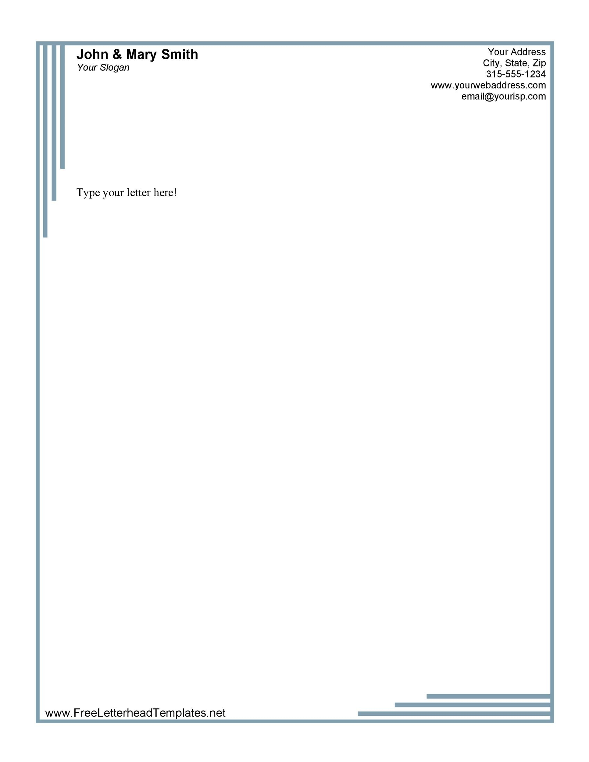 45 Free Letterhead Templates Examples Company