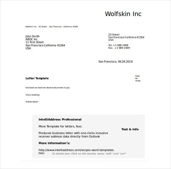 50 Business Letter Templates PDF DOC Free Premium