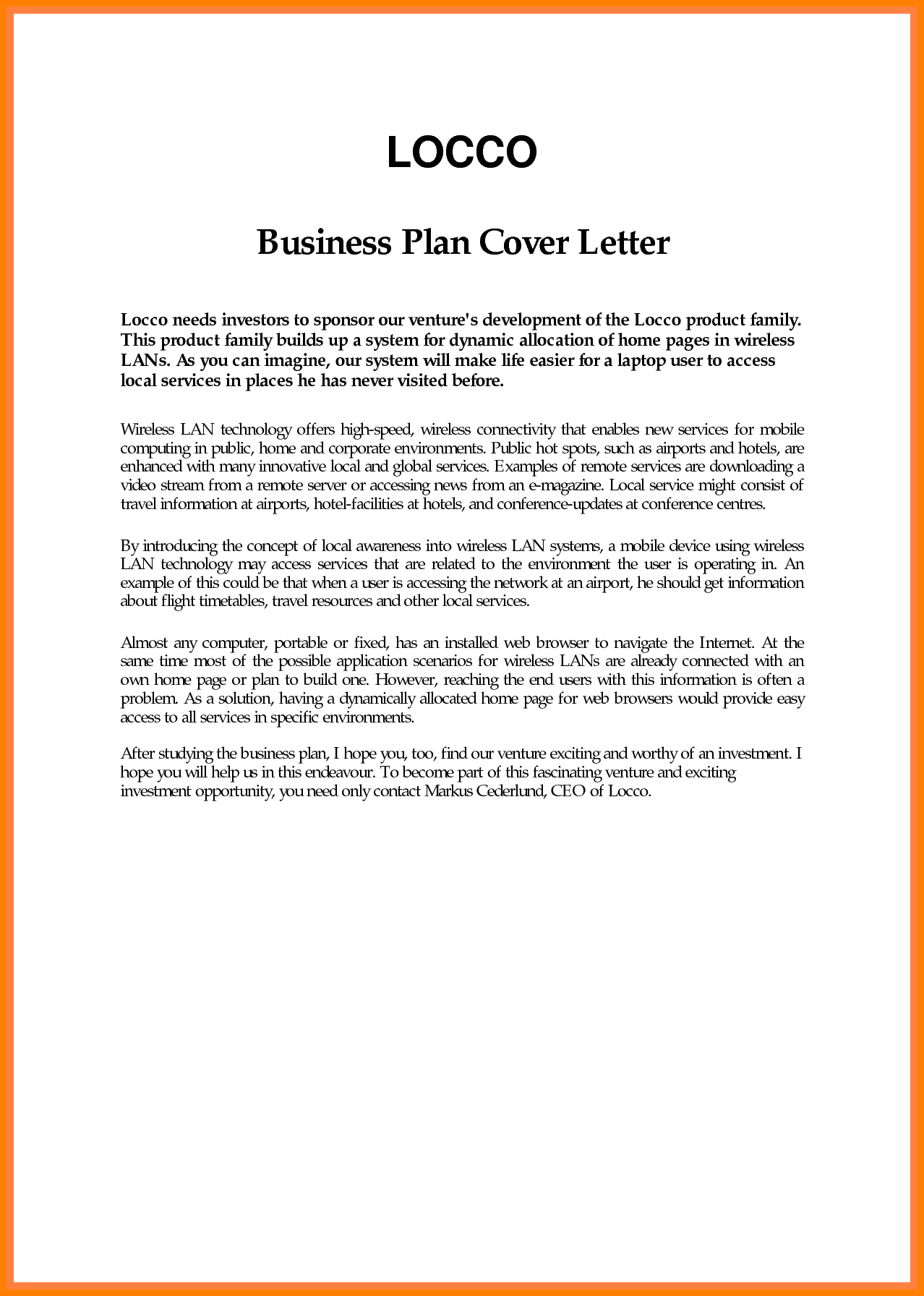 6 Example Of Business Proposal Introduction