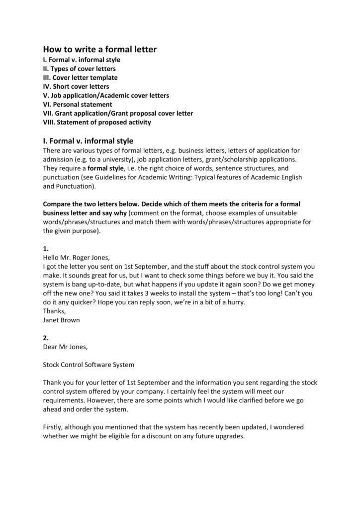 How To Start A Business Letter Example