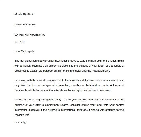 Business Letter Ending
