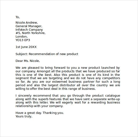 8 Standard Business Letter Formats Samples Examples