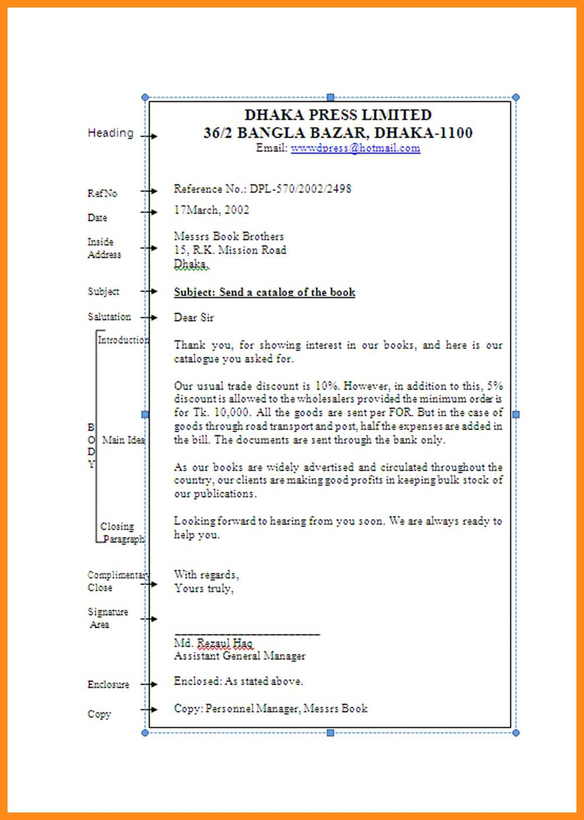 9 10 Main Parts Of Business Letter Lascazuelasphilly