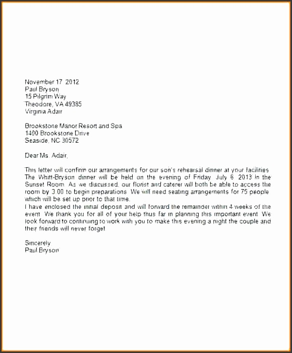 Business Letter Template Word 2007