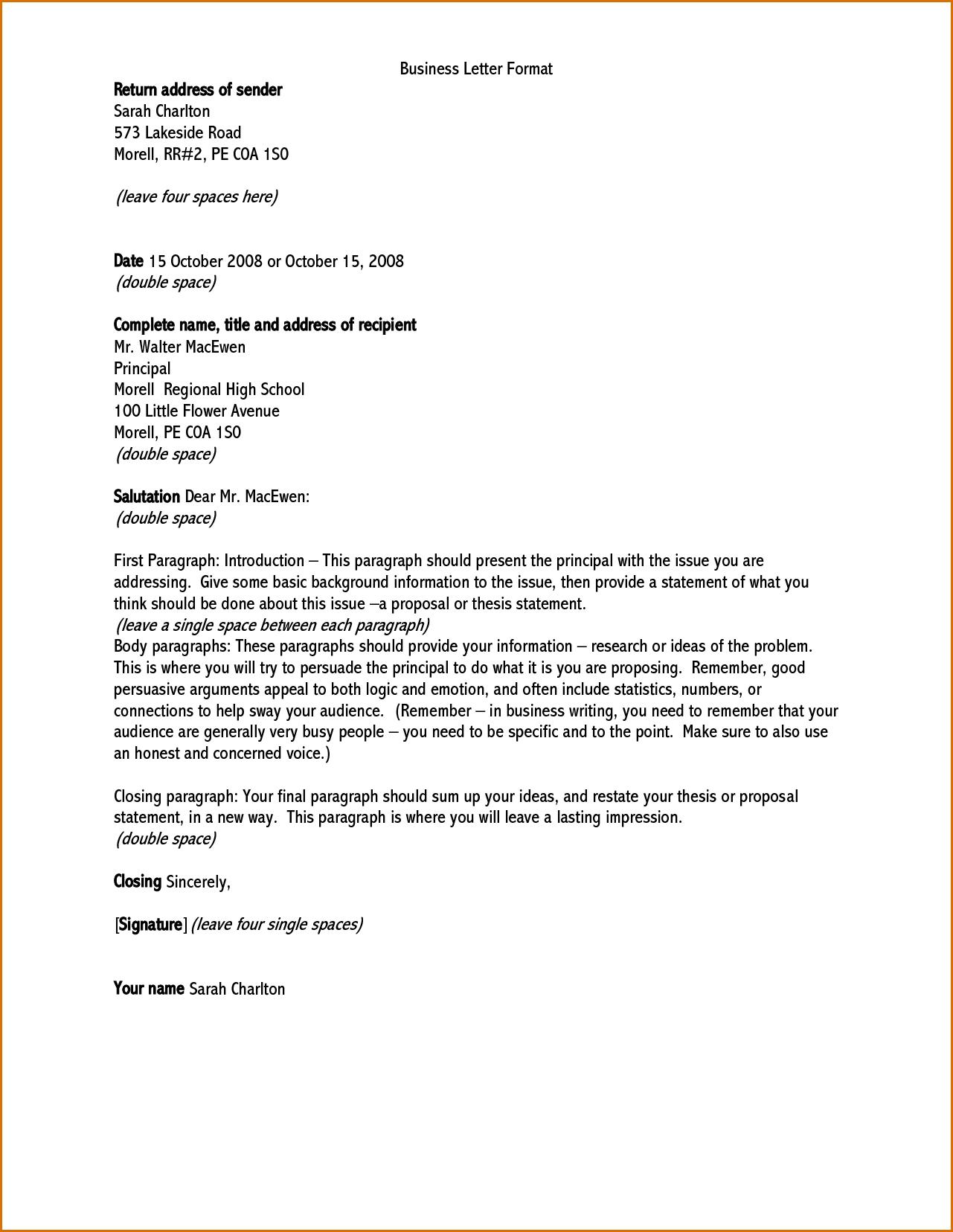 Address On Letter Format Scrumps