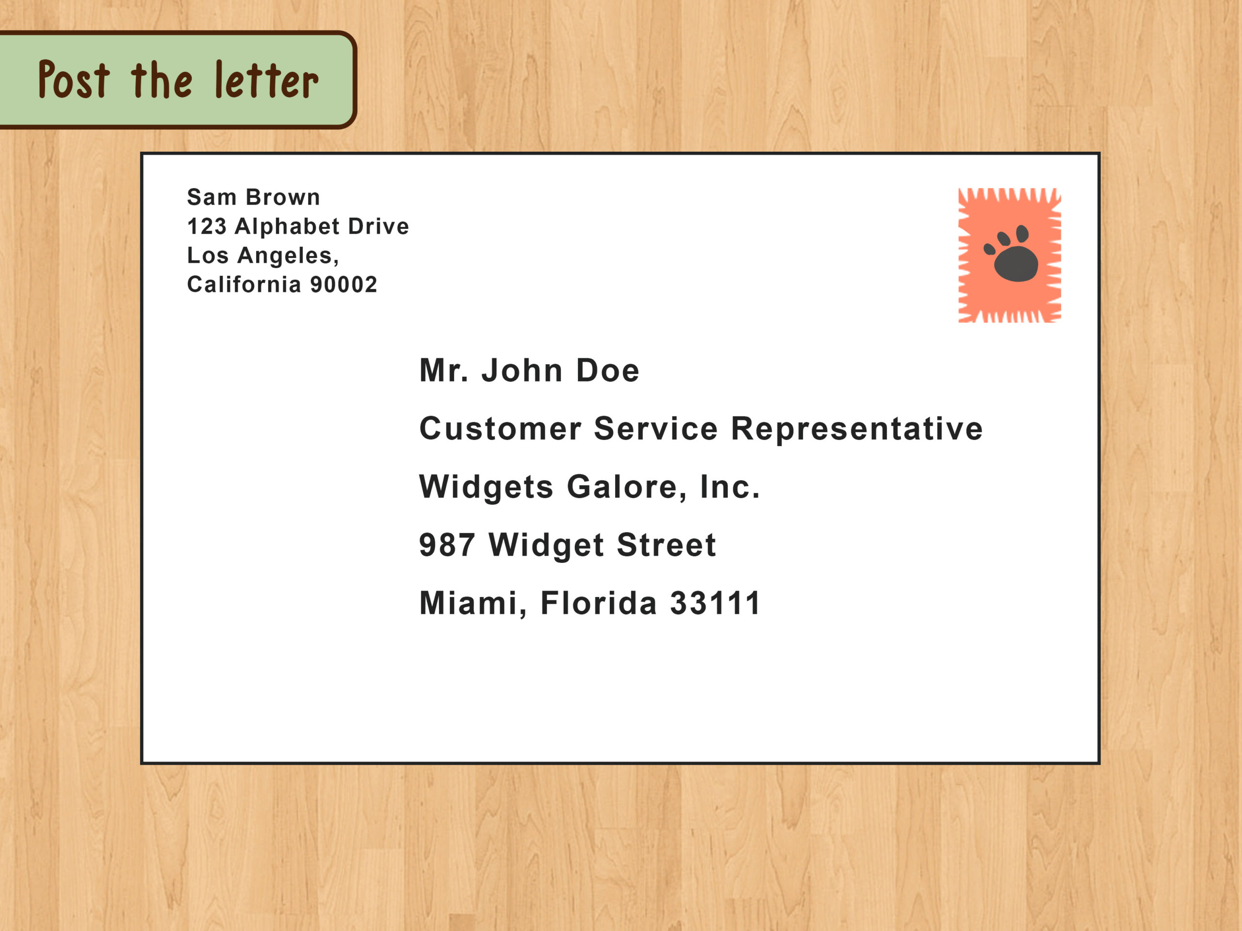 Addressing An Envelope To A Business Scrumps