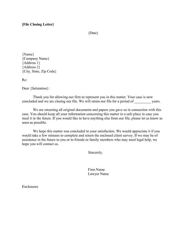 Business Closing Letter Template Business