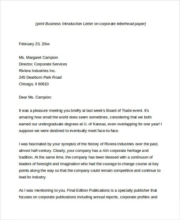 Business Letter 13 Free Word PDF Documents Download
