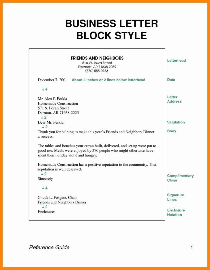 Formal Business Letter Format Spacing