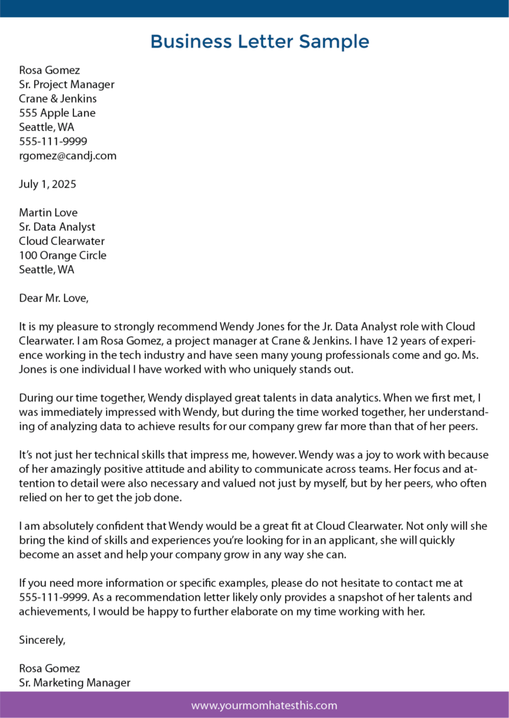 How To Write A Formal Business Letter