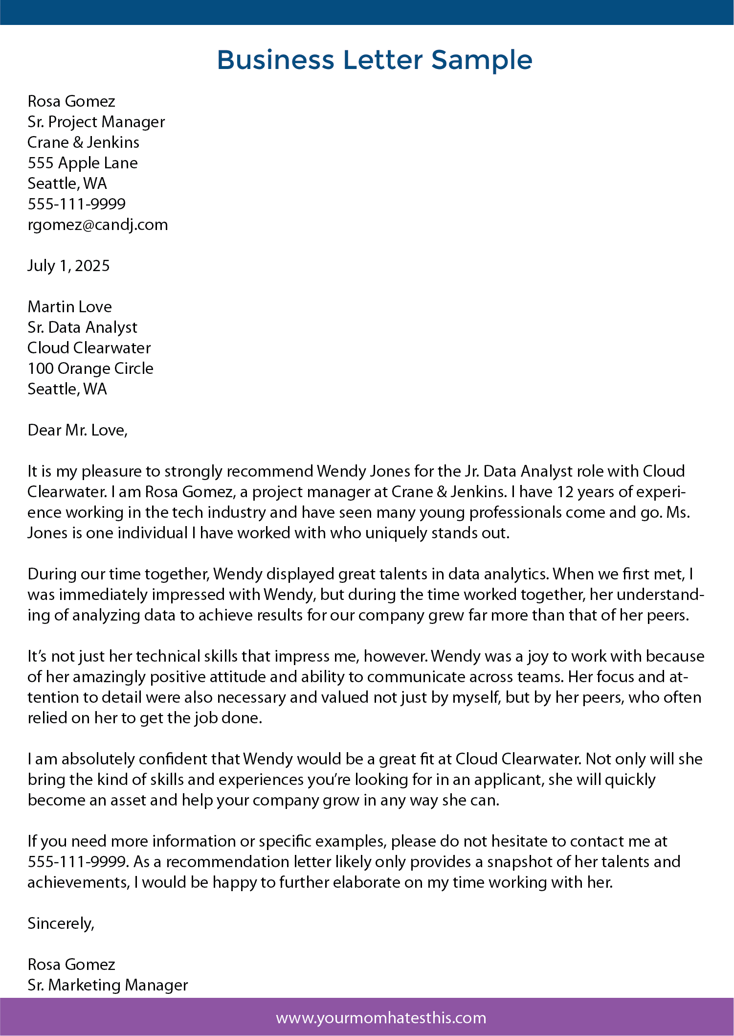Business Letter How To Write An Effective Letter