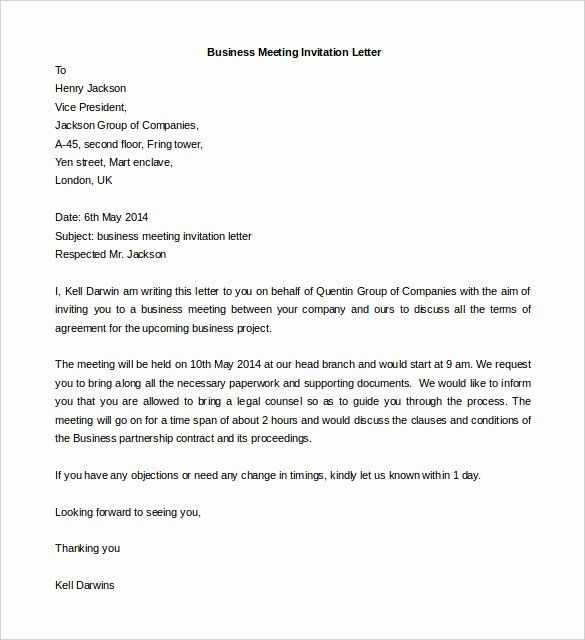 Business Meeting Invitation Template Fresh 50 Business