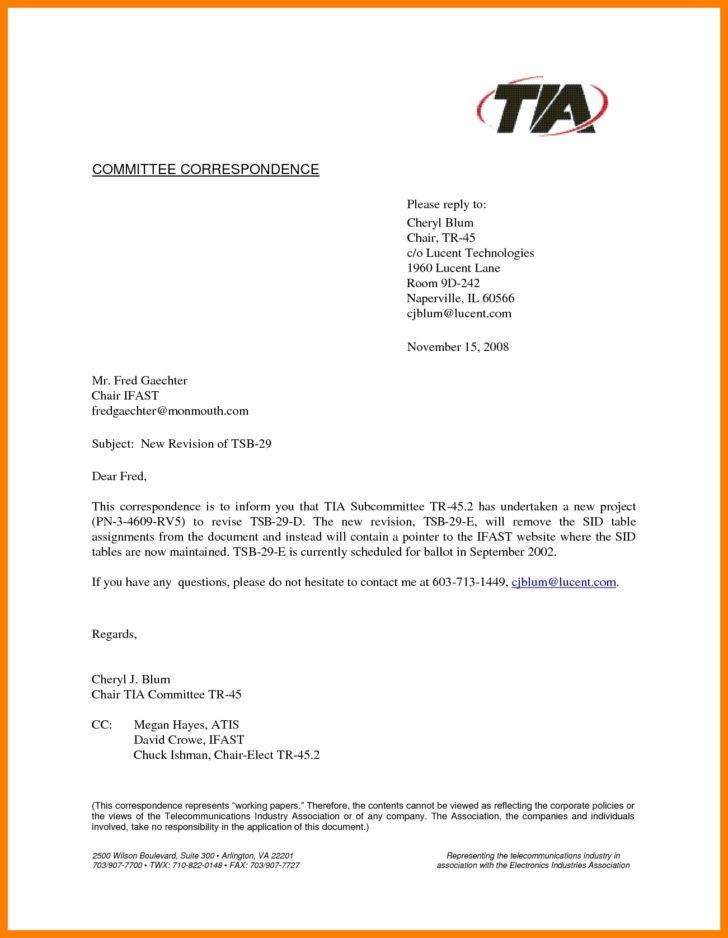 Formal Business Letter Format Cc
