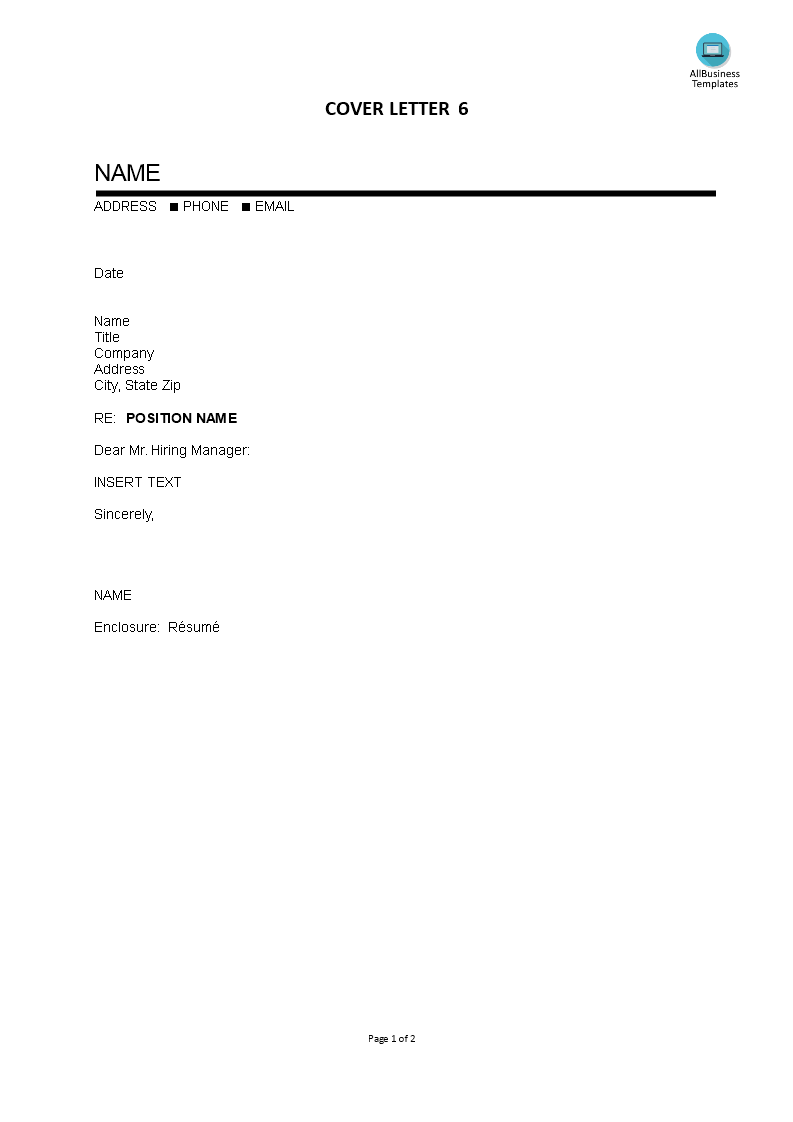 Cover Letter Blank Template Templates At