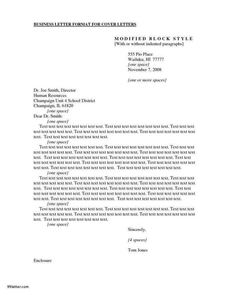 Formal Business Letter Apa