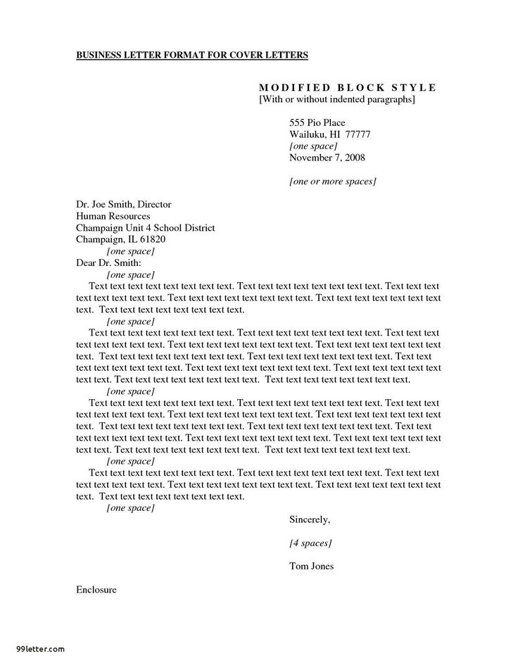 Cover Letter Template Apa Style