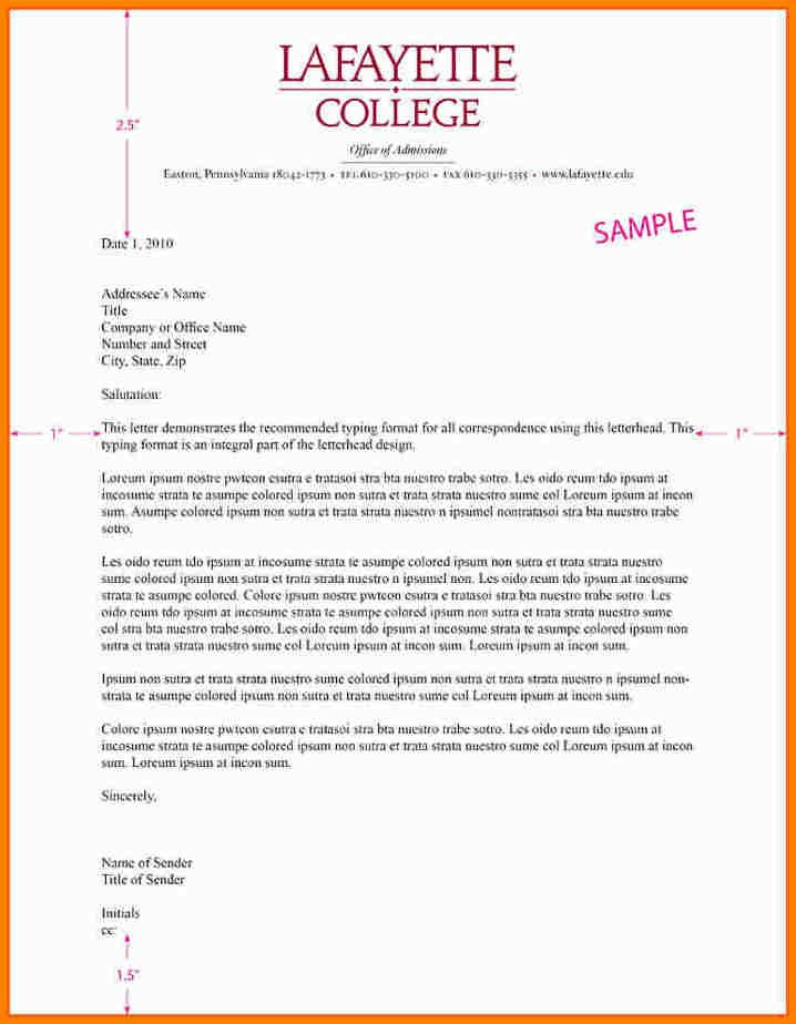 Example Of A Business Letter With Letterhead Filename