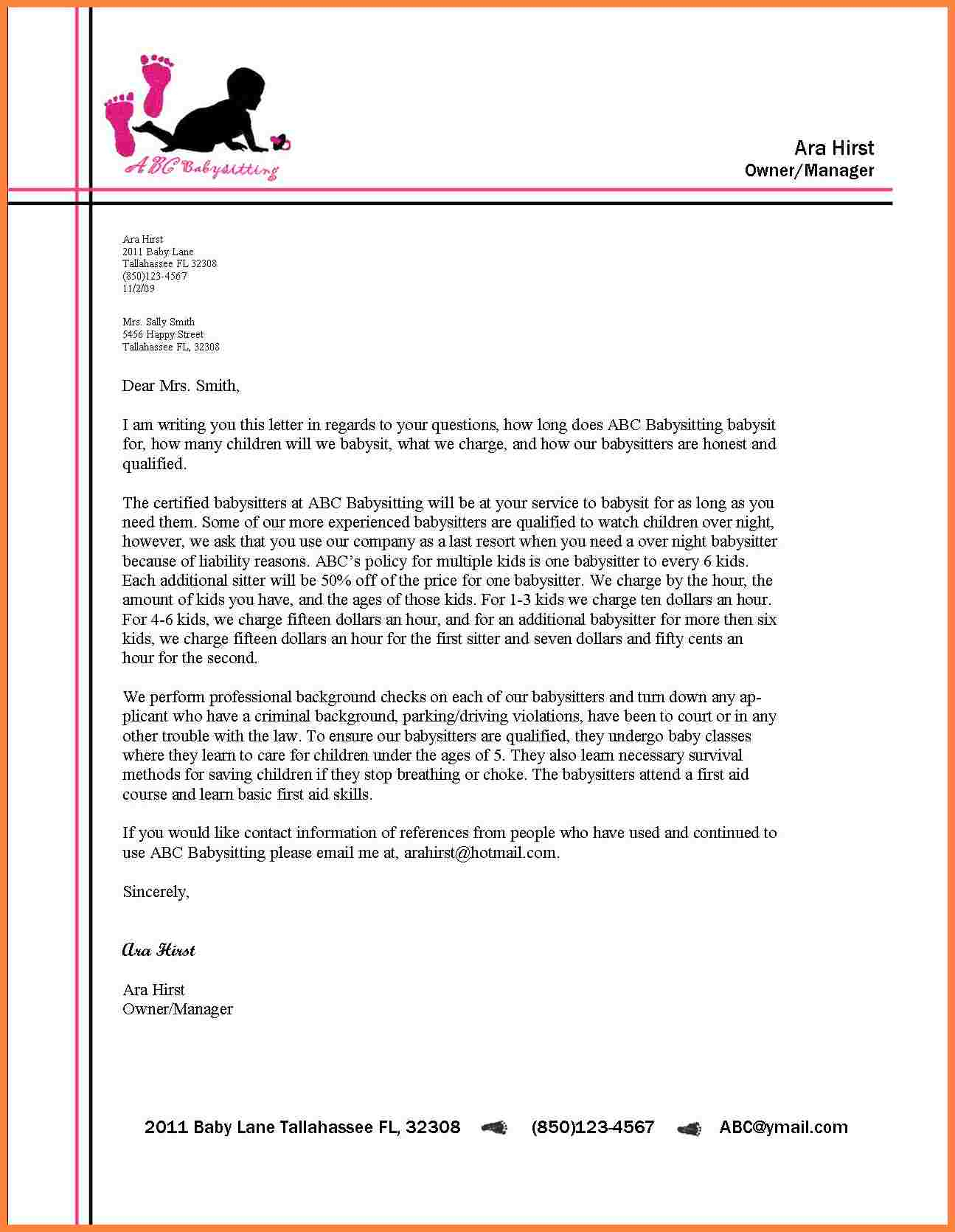 Examples Of Letterheads For Business Letters Scrumps