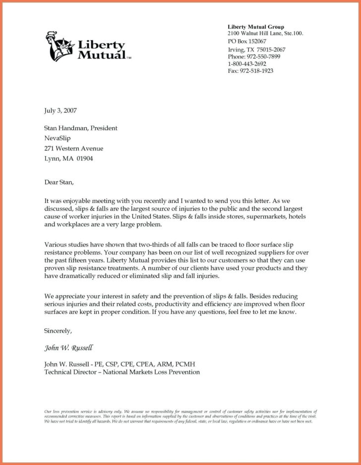 Formal Business Letter Template Free