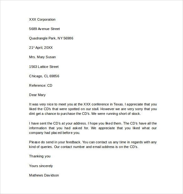 FREE 11 Business Letter Templates In PDF MS Word