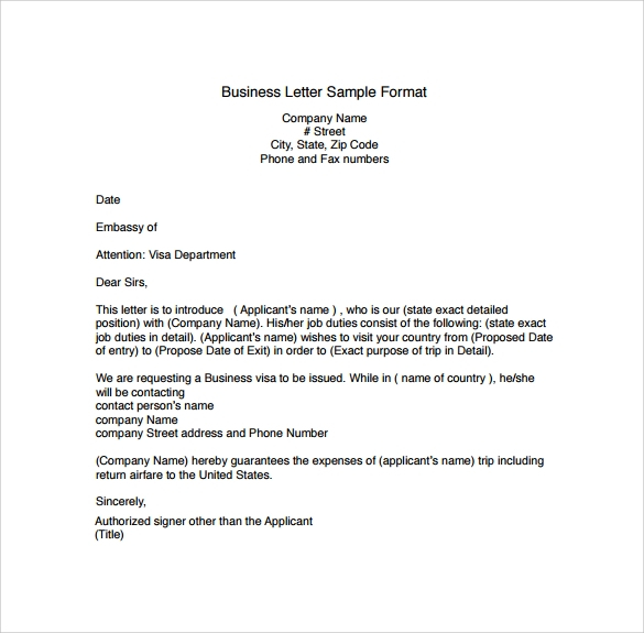 FREE 28 Sample Business Letters Formats In PDF MS Word