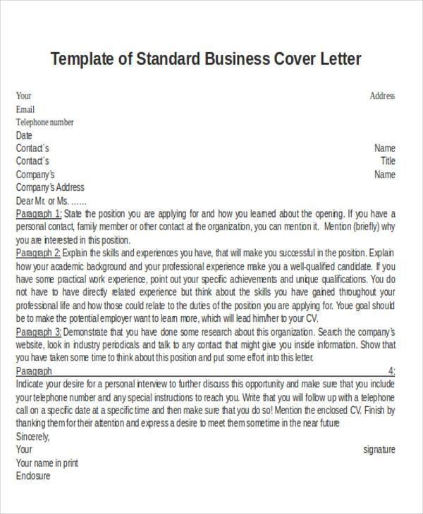 FREE 29 Business Letter Templates In PDF MS Word