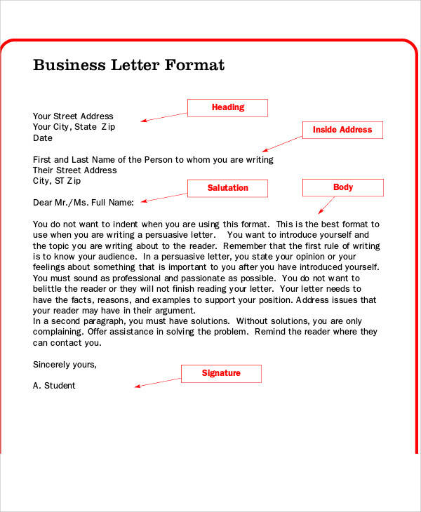 FREE 40 Sample Business Letter Templates In PDF