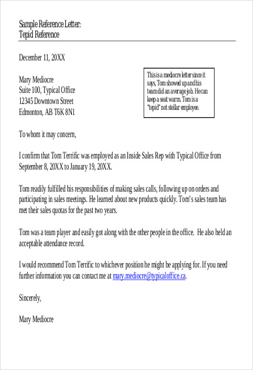 FREE 6 Sample Business Recommendation Letter Templates In