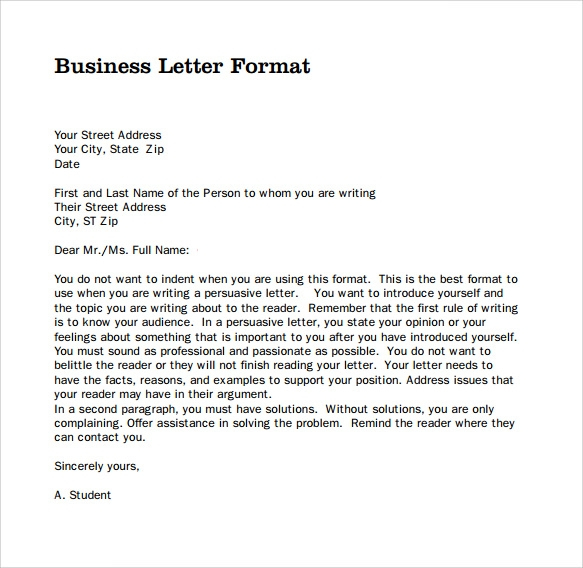Sample Business Letter PDF
