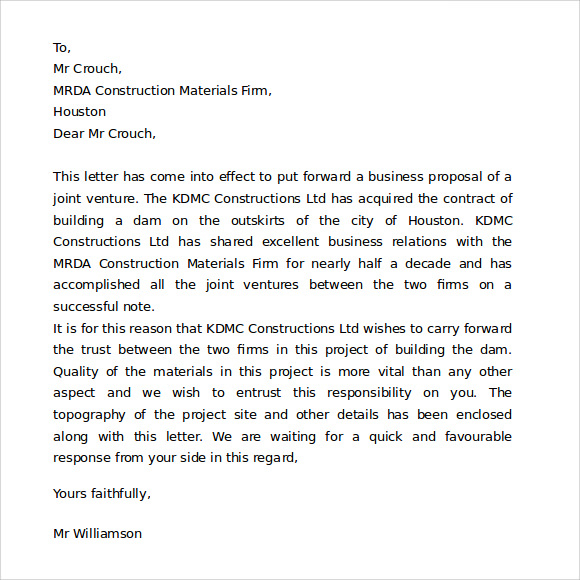 FREE 7 Proper Business Letter Formats In PDF MS Word