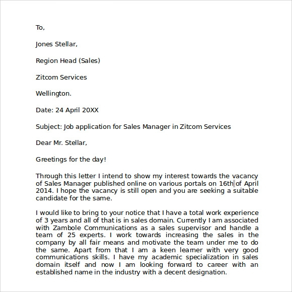 FREE 7 Sample Format For Business Letter Templates In PDF