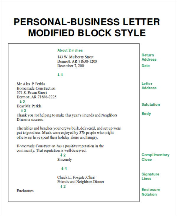 FREE 8 Sample Business Letter Layout Templates In PDF