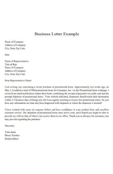 FREE 8 Sample Business Letter Template MS Word In MS Word