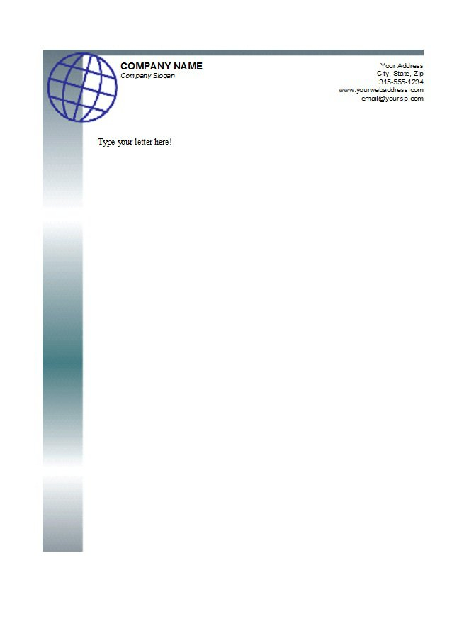 Free Letterhead Templates business professional Doc Format