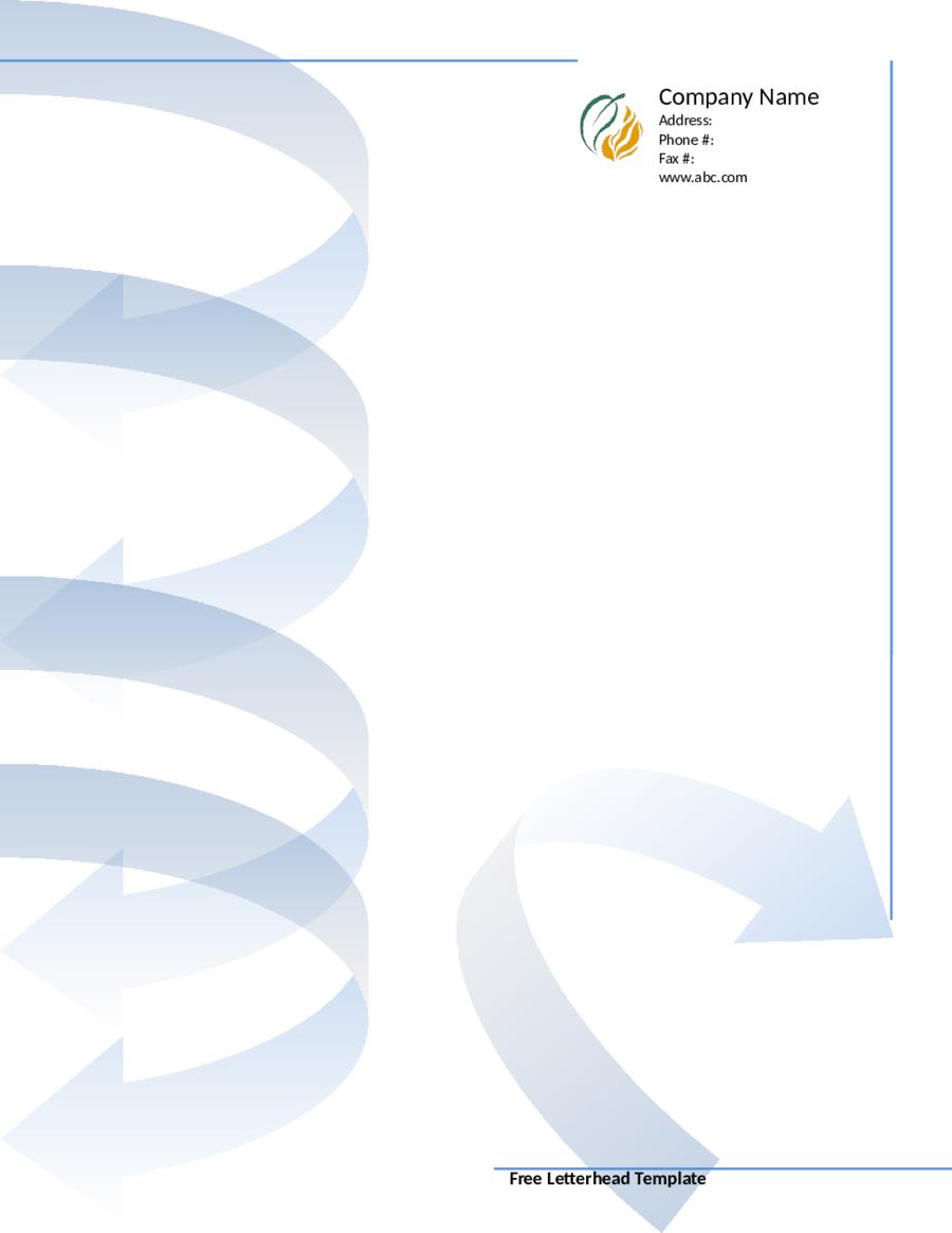 Free Printable Business Letterhead Templates Edit Fill