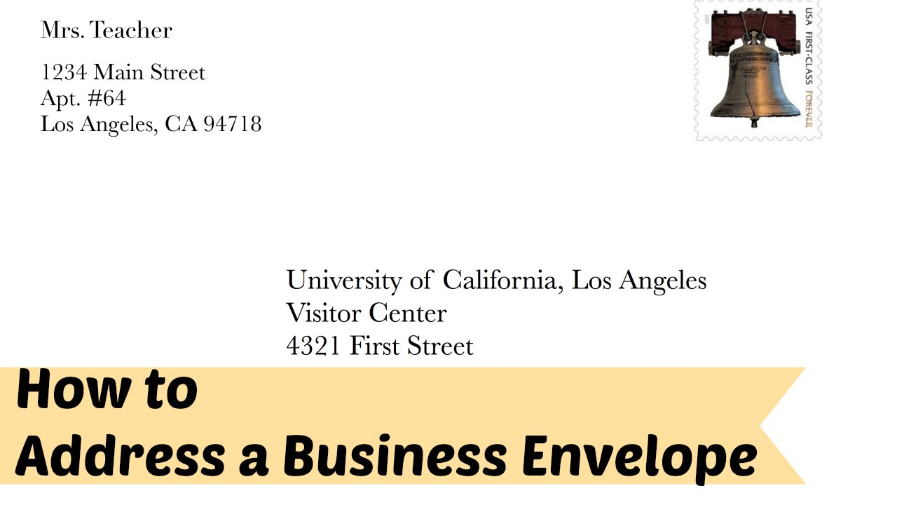 How To Address A Business Formal Letter Envelope YouTube