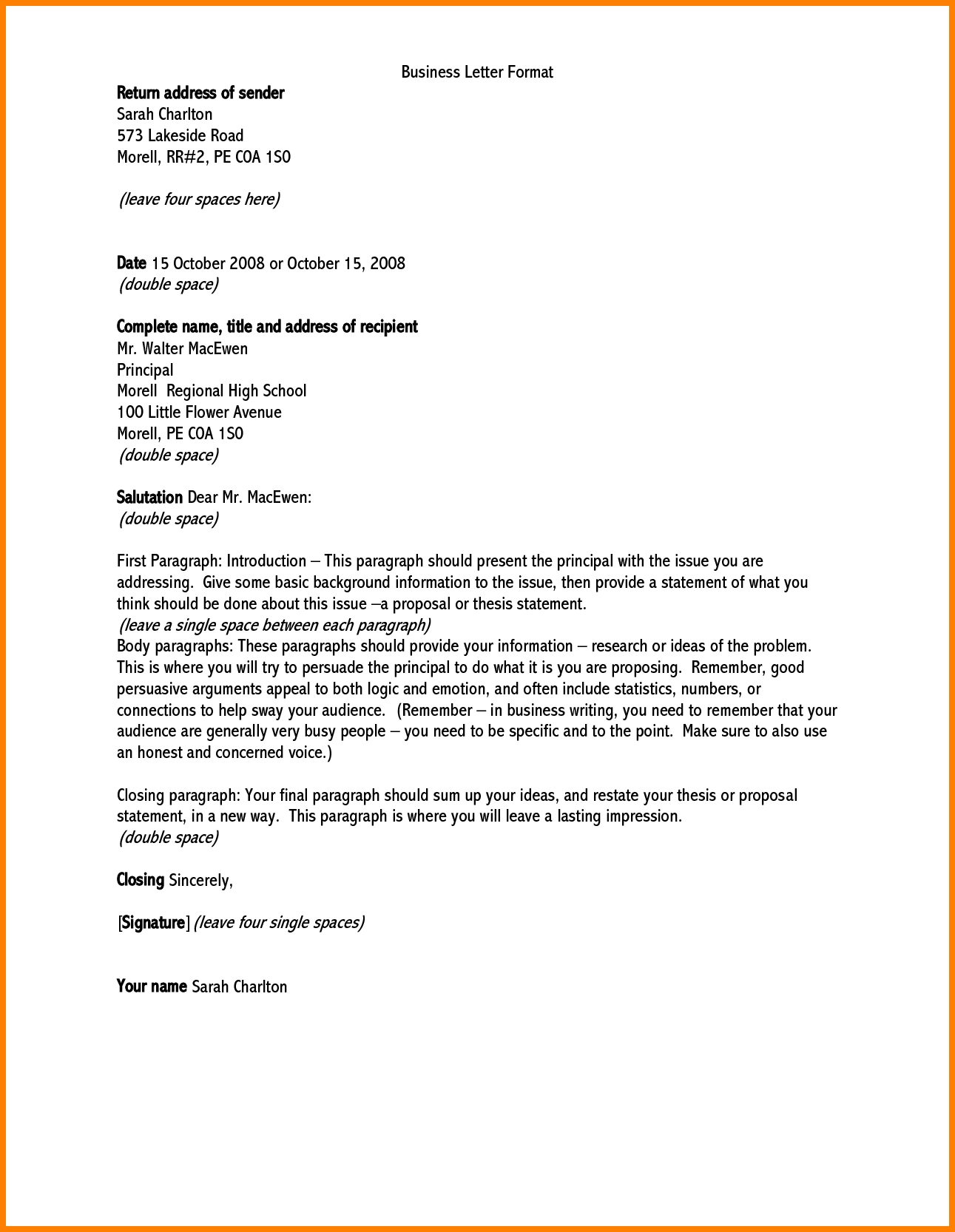How To Address A Business Letter Scrumps