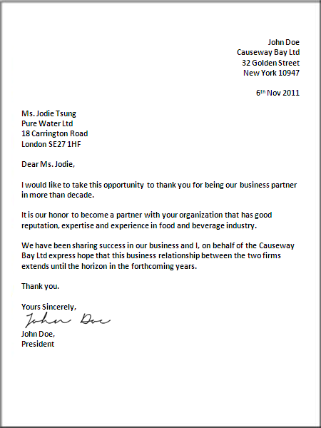 How To Format A UK Business Letter Formal Business
