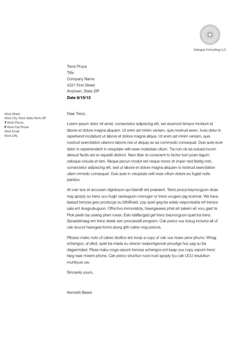 Sample Of How To Write A Business Letter